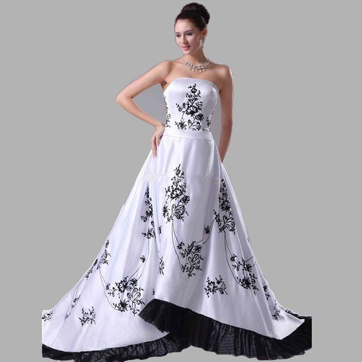 Vestito da sposa non bianco y nero