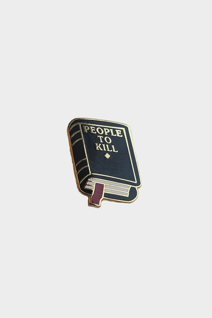 """1"""" brass lapel pin, based off Explorer's Press """"People To Kill"""" notebook!"""