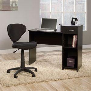 mainstays computer desk with sauder fabric task chair walmart