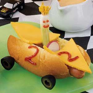 Hot Dog Race Cars. it's race weekend at Bristol Raceway
