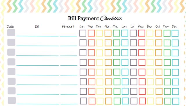 here u0026 39 s a free bill payment checklist to organize your bill payments