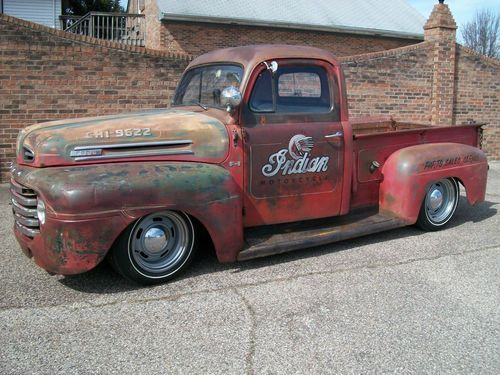 1950 FORD F1 PICKUP, RAT ROD, RATROD, STREET ROD, LOWERED, STREET MACHINE, image 1