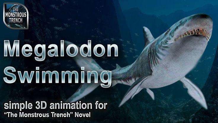 "Megalodon swimming - a simple 3D animation test for ""The Monstrous Trench"" deep-sea novel #megalodon #megashark #megaldodnaniamation #3Dmegalodon"