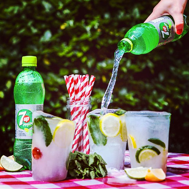 Keep it ice n' cool this summer with 7up Free Mojito ice glasses! Simply add 7up Free Mojito, lemons, limes, cherries and mint to a cup mould, freeze and enjoy!