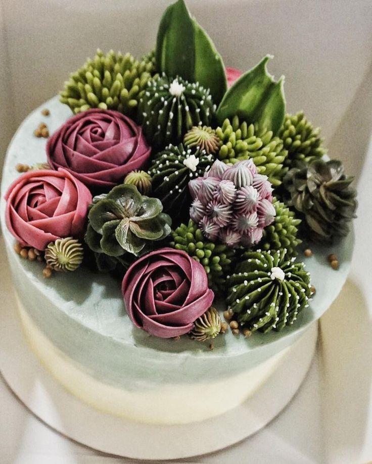 Unglaublich echt aussehende saftige Cupcakes von Brooklyns Floral Delight Bakery   – Sukkulenten