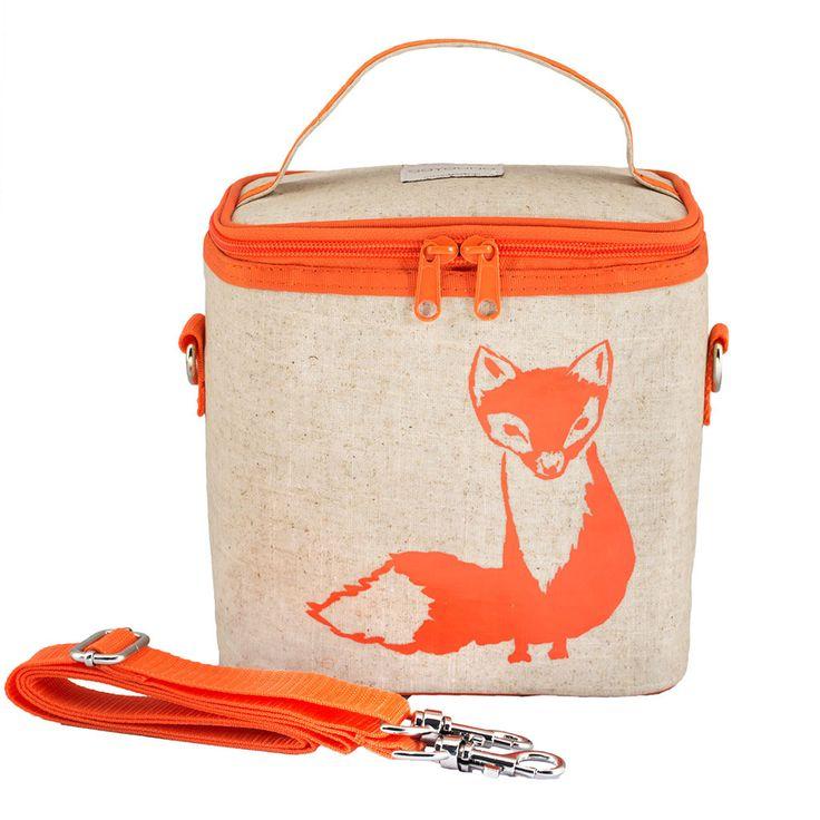 Orange Fox Small Cooler Bag