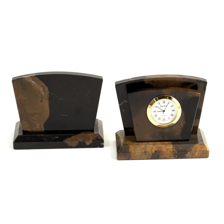 Bey-Berk International Clock with Letter Rack - D017