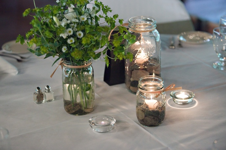 Diy mason jar centerpieces graduation ideas pinterest