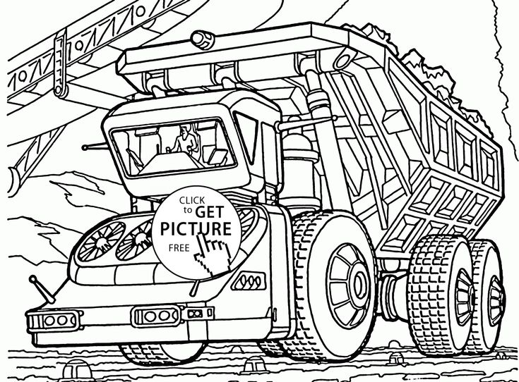 Biggest Dump Truck Coloring Page For Kids Transportation Pages Printables Free