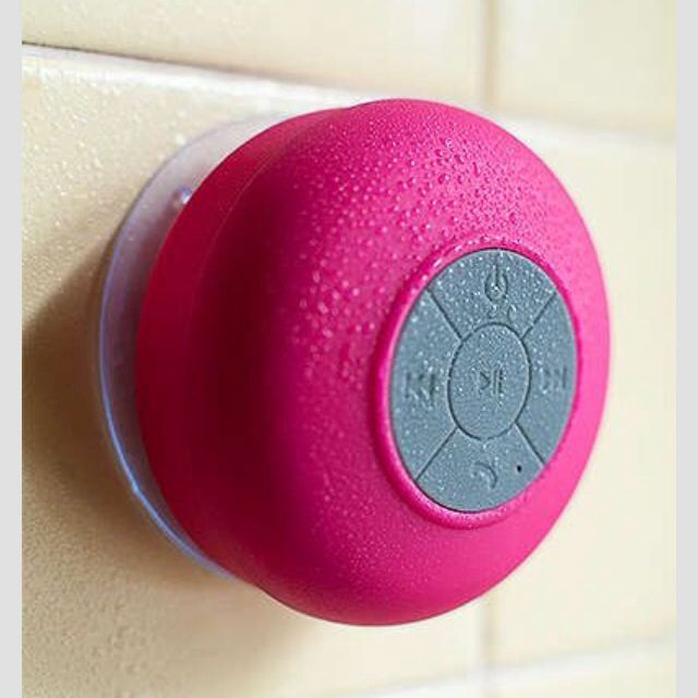 SoundBot Bluetooth Shower Radio  Comes in different colors, but I'd probably just get white