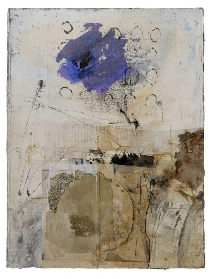 Seeing Eye Flower by Fran Skiles - collage painting