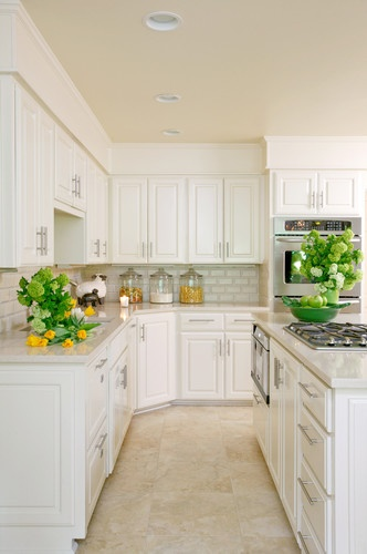 15 best images about tile floors on pinterest kitchen for White kitchen cabinets with tile floor
