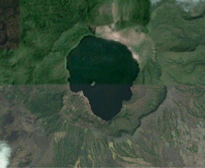 A Fülöp-szigeteken belül van egy sziget, amin belül van egy sziget egy tavon, amiben egy tavon lévő sziget fekszik Krátertó