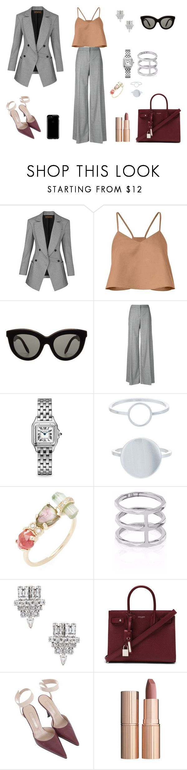 """ofi"" by ananleke on Polyvore featuring moda, TIBI, Victoria Beckham, Alexander McQueen, Cartier, Accessorize, Jacquie Aiche, Edge of Ember, Yves Saint Laurent y Sergio Rossi"