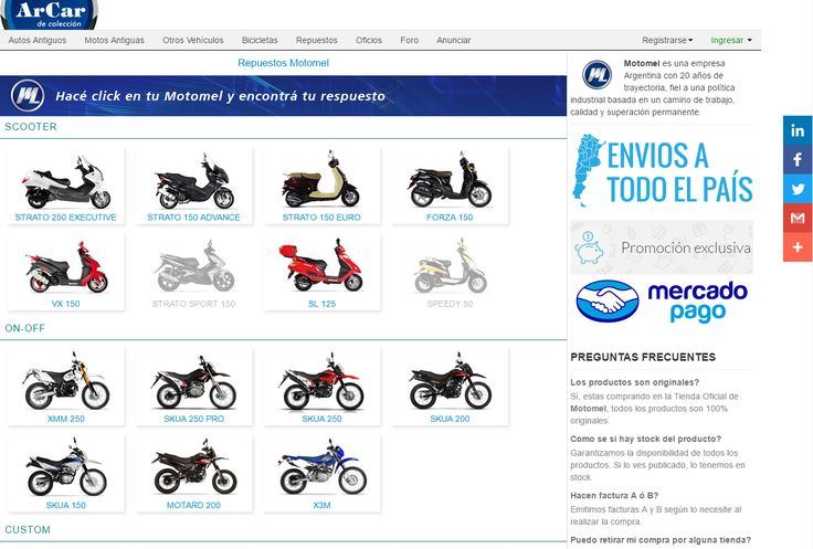 Repuestos #Motomel. https://www.arcar.org/motomel