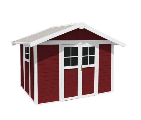 Abri de jardin en PVC 7,53 m2 Grosfillex Rouge prix promo La Maison de Valerie 1 949.99 € TTC au lieu de 2 299,99 €