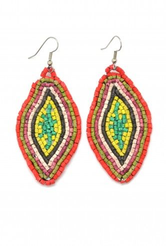 Ceramic Diamond Earrings - handmade earrings - artisan made - beaded earrings - fair trade earrings - fair trade jewelry - & Dunitz is a member of Fair Trade Federation.