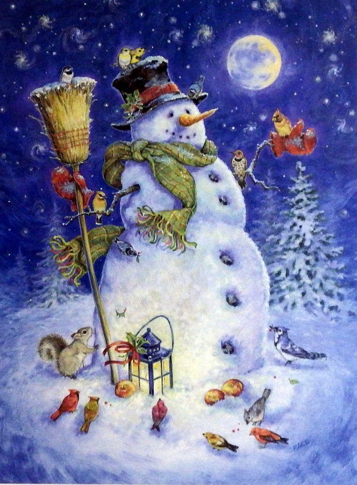 "Donna Race Snowman's Feathered Fun"""""