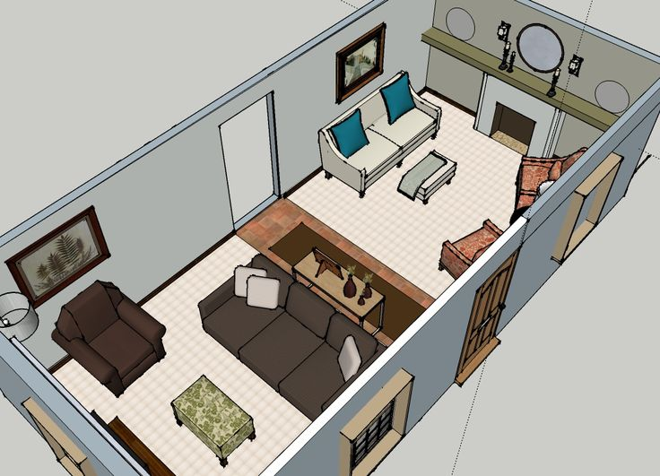 17 best images about awkward room arrangement on for Mobile home furniture arrangement