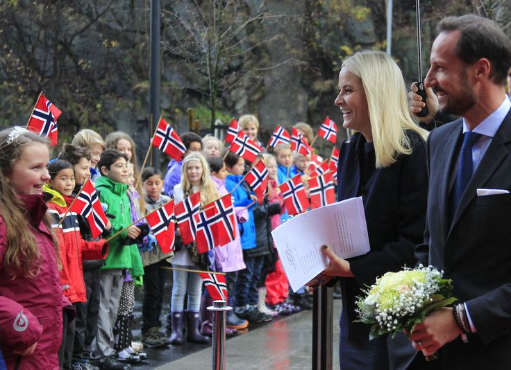 royalwatcher:  Crown Princess Mette-Marit and Crown Prince Haakon opened the Cub in the Arendal-Aust-Agder cultural historic center, Norway, November 20, 2014