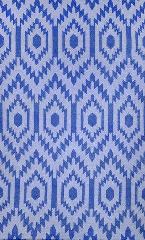 NuLOOM Royal Blue 5 X 8 Crete Flatweave Area Rug