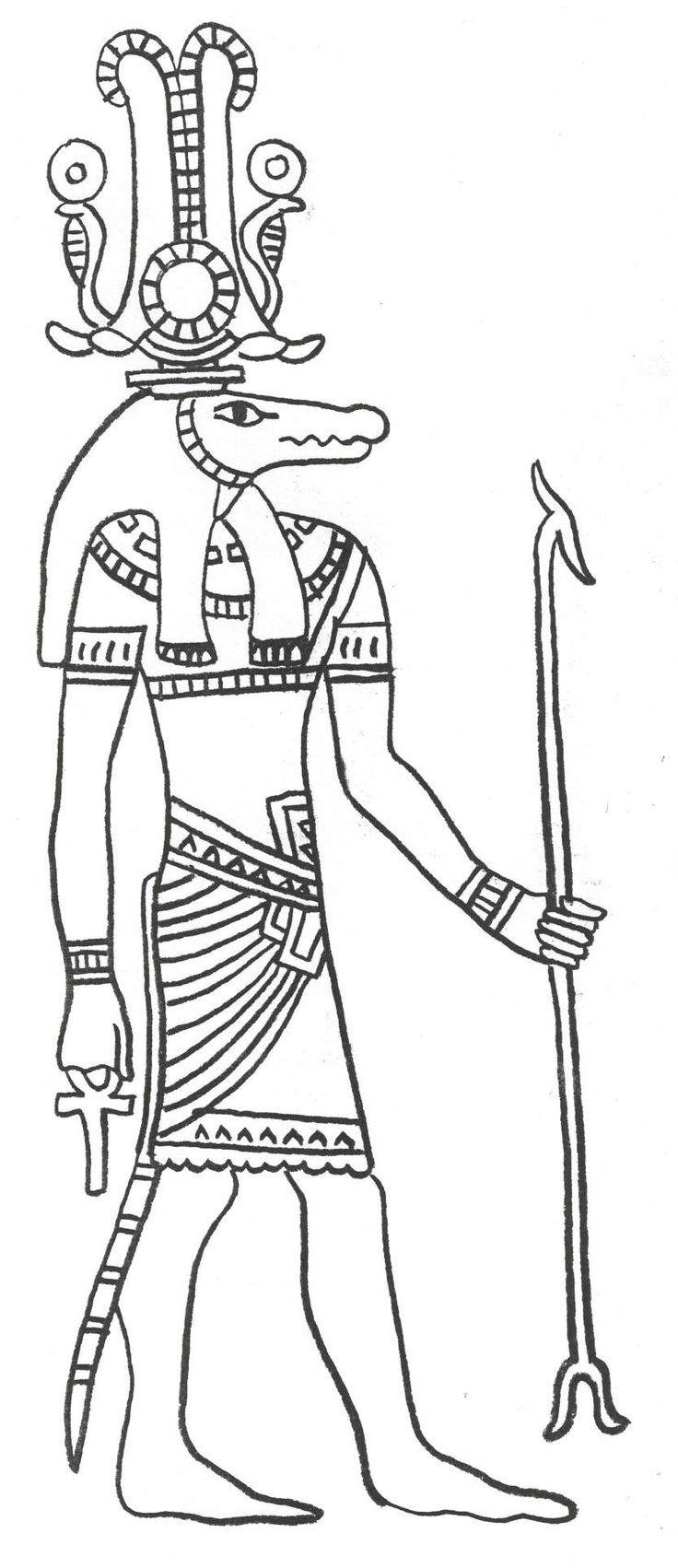 ACTIVITE - Coloriage des dieux égyptiens :       Amun-Ra      Anubis      Bastet      Bes      Hapy      Hathor      Horus      Imhotep      Isis      Nut      Osiris      Ra      Set      Sobek      Taweret      Thoth