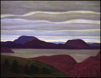 Lawren Stewart Harris, Grey Day, North Shore, Lake Superior (Lake Superior Painting XI) 1923