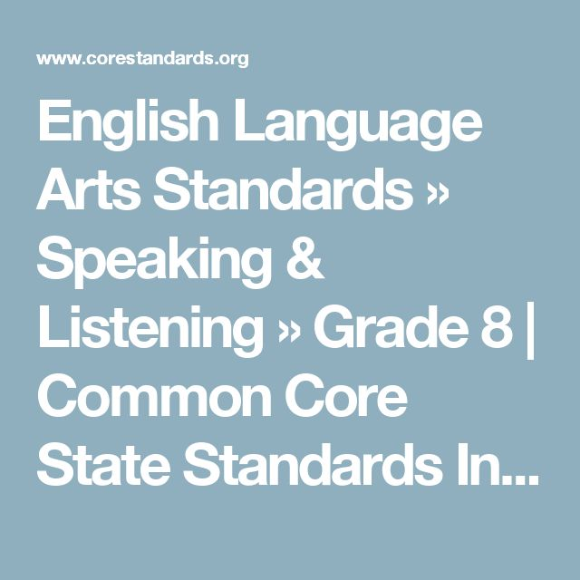 common core standards ela grade 8 pdf