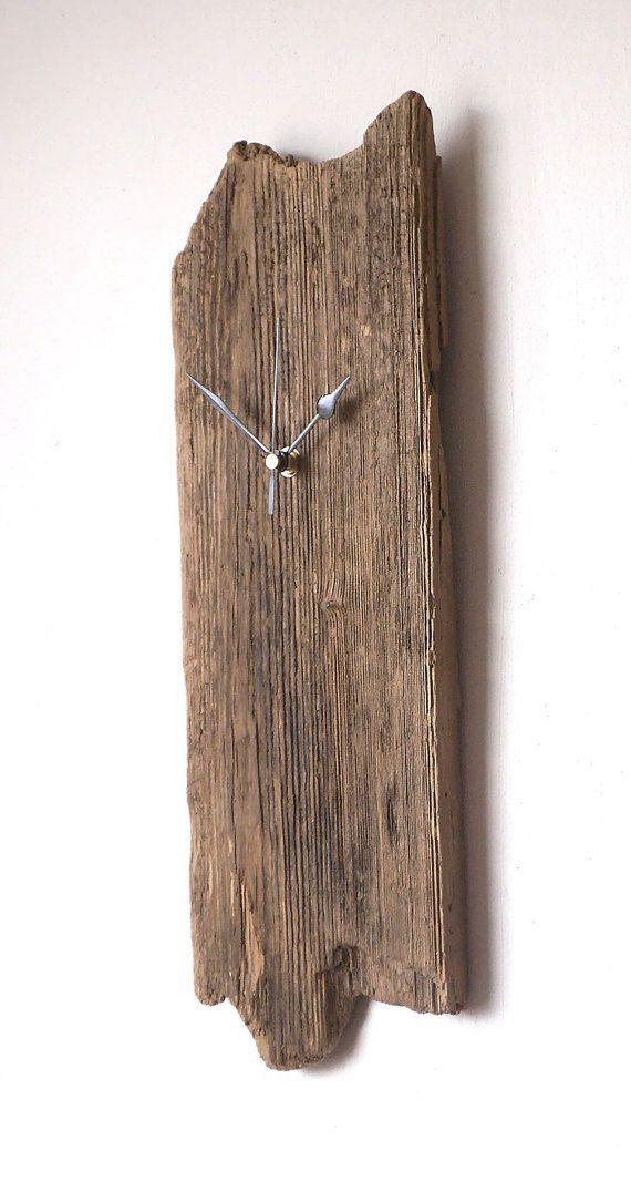 Driftwood Clock Wall Beach Clock Natural Clock by NaturalClocks