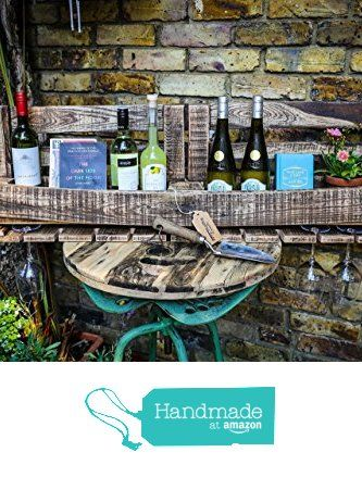 Large Wall Mounted Wine Rack with for 10 Bottles and 10 Glass Hooks made with Reclaimed Wood from MooBoo Home https://www.amazon.co.uk/dp/B01LBEMYOI/ref=hnd_sw_r_pi_dp_KKTmybJ9WWHAG #handmadeatamazon