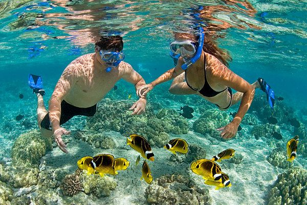 Snorkeling in the Pacific islands