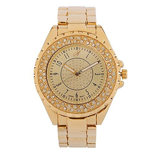 Yellow Stone Women Gold Watch, with Gold Dial, Waterproof, Shock Resistant, japanese-quartz movement. -- Check out this great product.