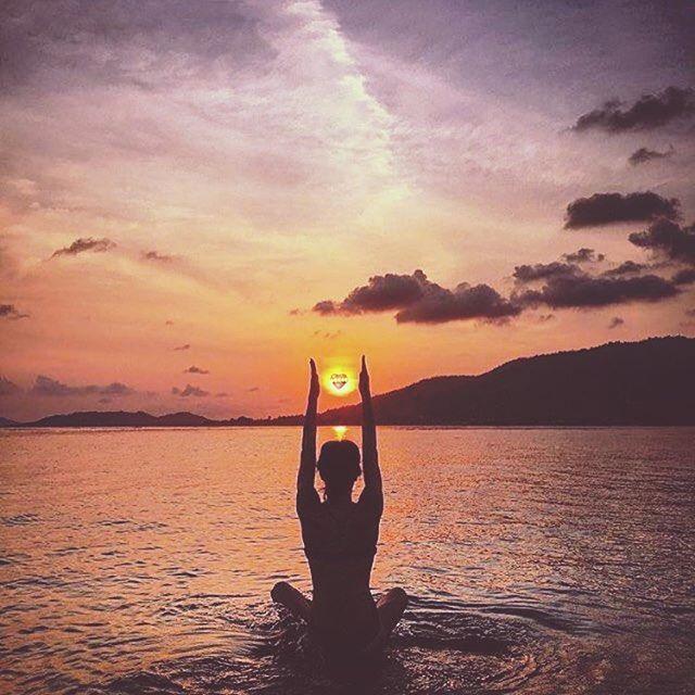 Yoga Photography Shoot Sunset Beach