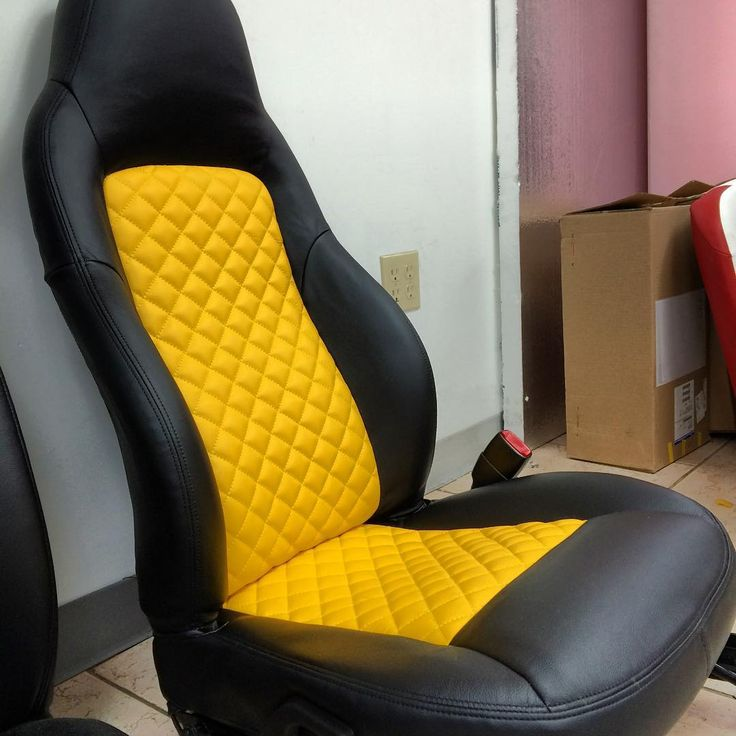 corvette yellow and black diamond stitch interior seats