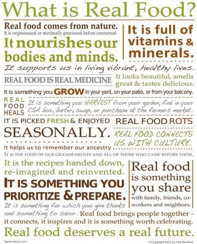 What is real food? #Realfood #healthyliving