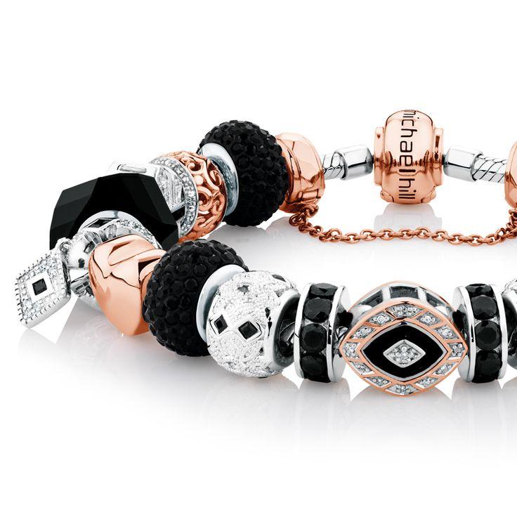 Art Deco inspired bracelet in 10ct rose gold & sterling silver. #emmaandroe