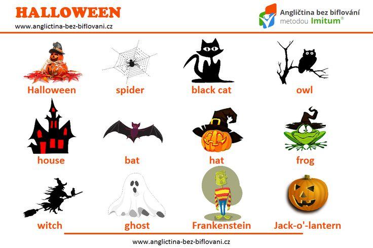 Blíží se nám HALLOWEEN, a proto je třeba vybavit se dostatečnou slovní zásobou. 🎃👻💀 #anglictina #slovicka #halloween