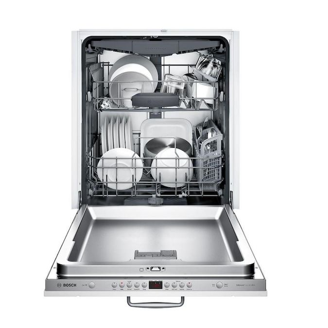 Bosch 300 Series Puredry 44 Decibel Top Control 24 In Built In Dishwasher Panel Ready Energy Star Lowes Com In 2020 Built In Dishwasher Steel Tub Top Control Dishwasher