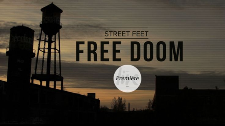 Street Feet  Basés à Toronto, les membres de Street Feet ont réalisé une superbe vidéo de skate en se rendant dans la ville de Detroit. Appelée « Free Doom », cette création permet de mettre en images toute une équipe d'amoureux de tricks s'emparer de divers espaces de la ville américaine. A découvrir en vidéo dans la suite.