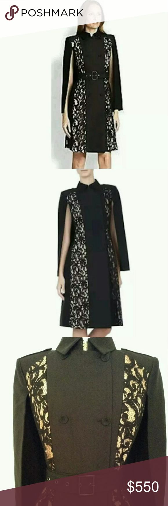 Selling this NWT  BCBG lace black cape jacket dress M on Poshmark! My username is: shanesha. #shopmycloset #poshmark #fashion #shopping #style #forsale #BCBGMaxAzria #Jackets & Blazers