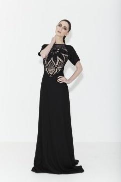 Mariam Seddiq Couture Black hand crochet gown beading Pre-order now www.mariamseddiq.com