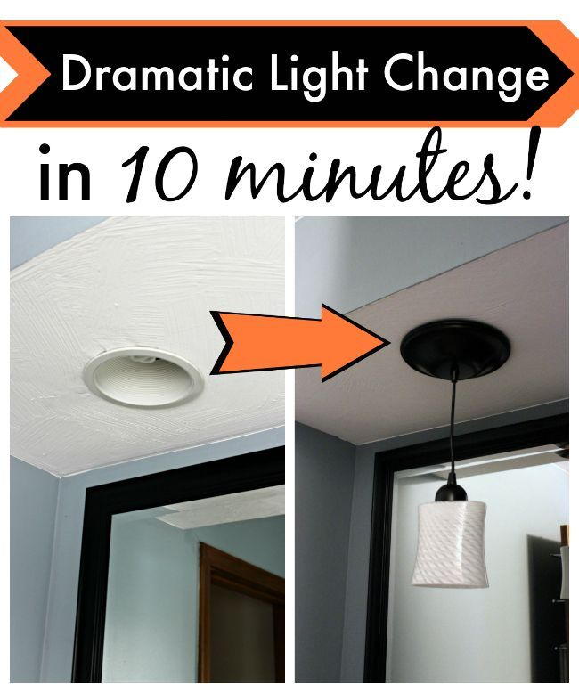 This cheap simple DIY lights kit will amaze you. You won't believe how easy it is to transform your canned lights to pendant lights in 10 minutes or less.