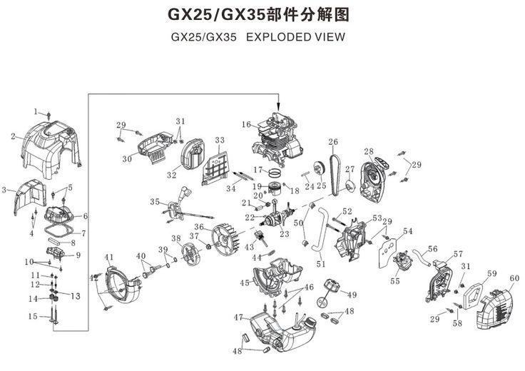 26 best Honda gx25 Mini 4-stroke engine images on