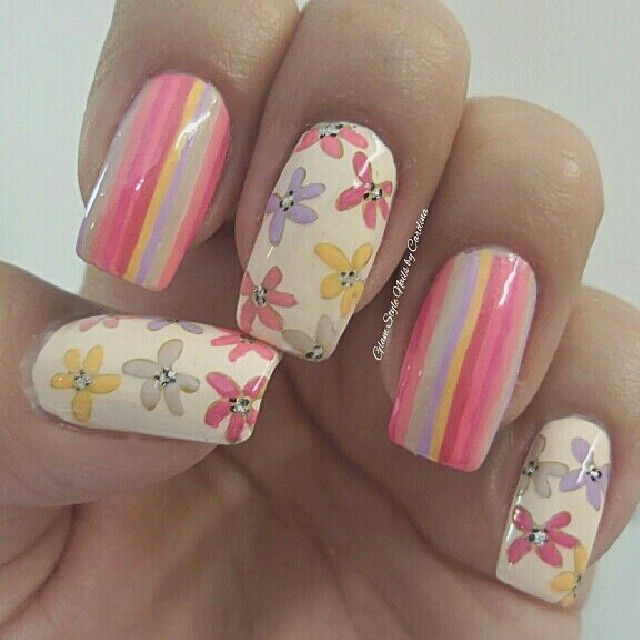 Floral Manicures For Spring And: 1000+ Images About Paint My FLOWERS Fetish On Pinterest