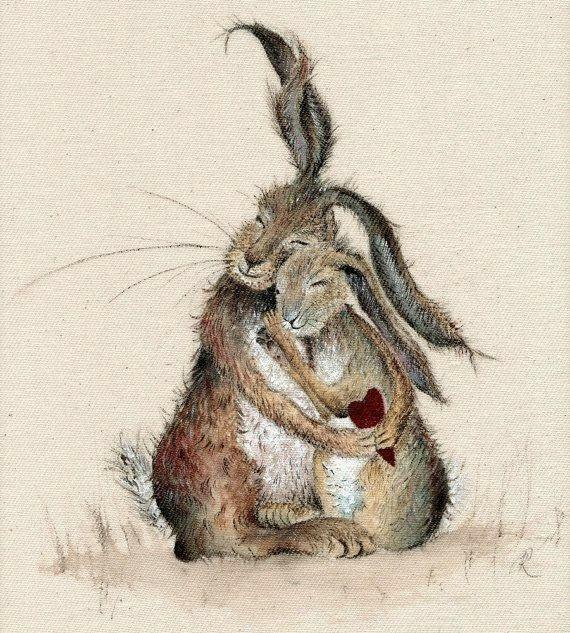 Смешные нарисованные кролики картинки, для