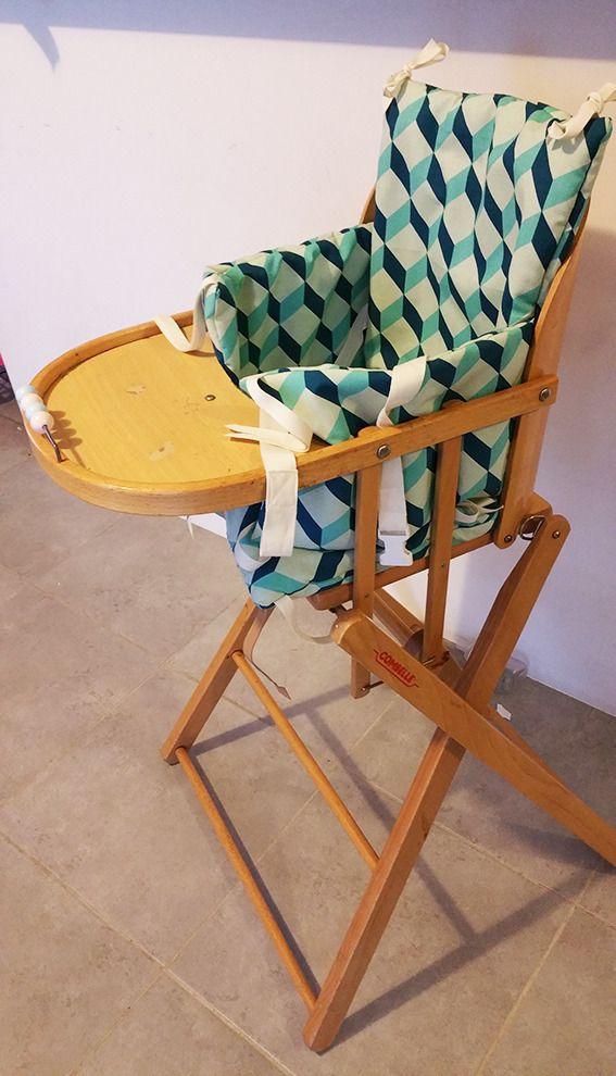 Coussin chaise haute combelle bébé avec sangles de sécurité : Puériculture par les-rapitous