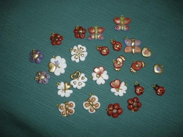 Ciondoli in STILE THUN - fiori farfalle coccinelle - BOMBONIERE, by LE MANI IN PASTA, 1,00 € su misshobby.com