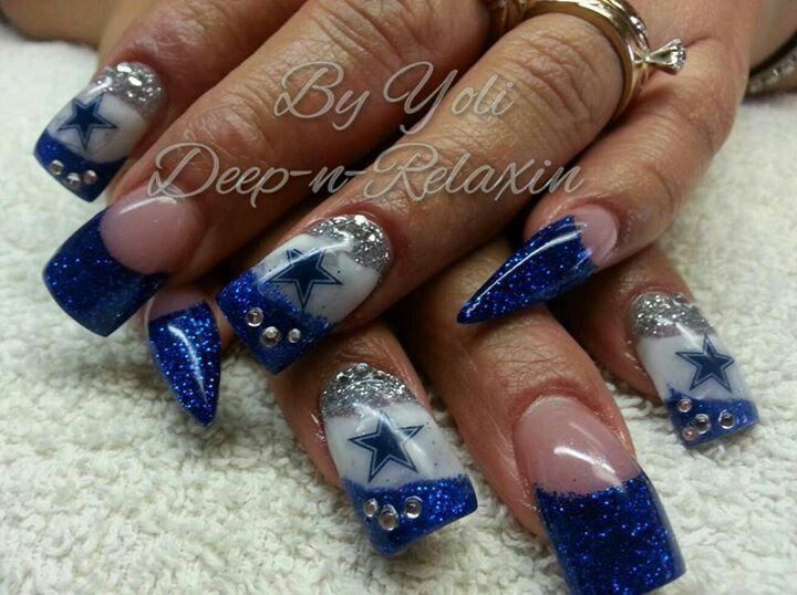 Pictures Of Dallas Cowboys Nail Art Arte De Unas Arte