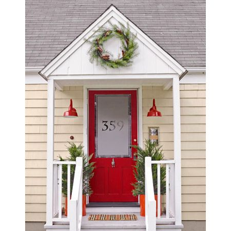 77 best images about red front doors on pinterest for Bungalow house numbers