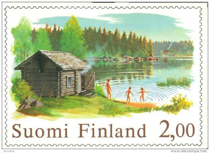 sauna postcard - Google Search